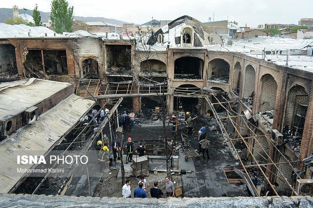 انتها 17 ساعت عملیات سخت و نفس گیر در بازار تبریز