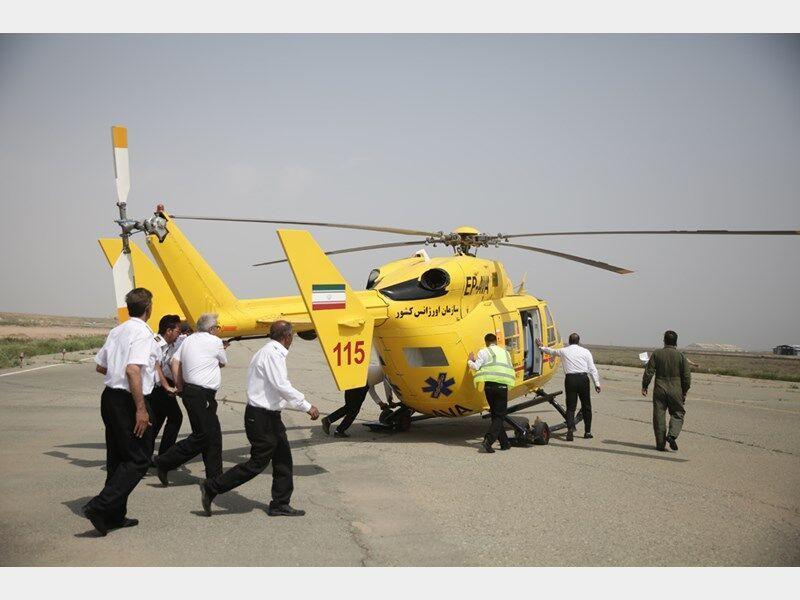 خبرنگاران اورژانس هوایی در ایرانشهر مستقر می گردد