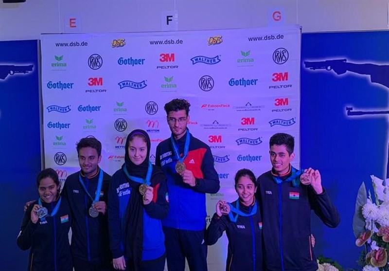 تیراندازی جام جهانی جوانان، تیم میکس تفنگ ایران طلایی شد