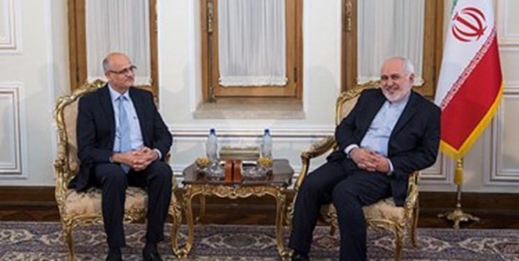 ابراز نگرانی ظریف از وضعیت مردم کشمیر در دیدار قائم مقام وزیر خارجه هند