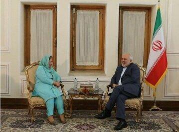 ظریف با رفعت مسعود خداحافظی کرد، عکس