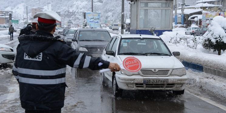 بارش برف و باران در محور های 11 استان کشور