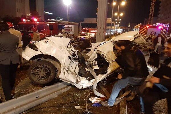 5 کشته و زخمی در تصادف بزرگراه هاشمی رفسنجانی
