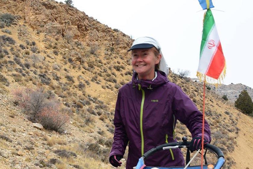 گزارش خبرنگاران از ایرانگردی یک دونده زن سوئدی