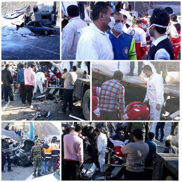 4 کشته و 6 مصدوم در تصادف زنجیره ای منجیل-رودبار