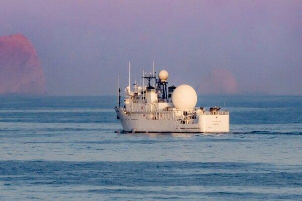افشای فعالیت کشتی جاسوسی آمریکا در خلیج فارس