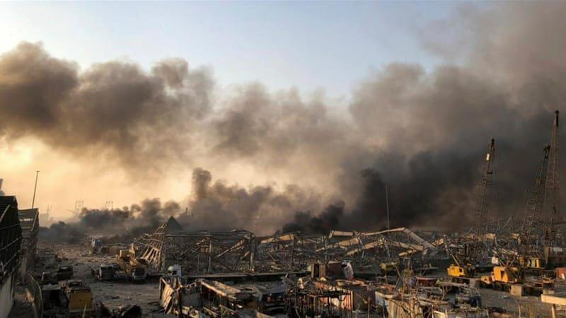 تصاویری متفاوت از قدرت تخریب انفجار بیروت ، خسارات وارده به خودروها و ساختمان ها
