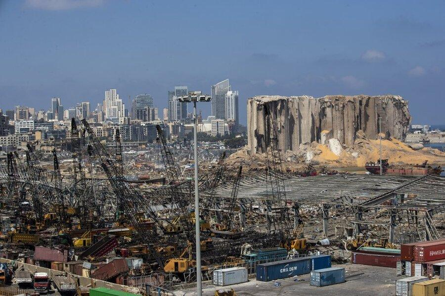 انفجار بیروت حفره 43 متری ایجاد کرد ، کشف تیم تحقیقاتی فرانسه