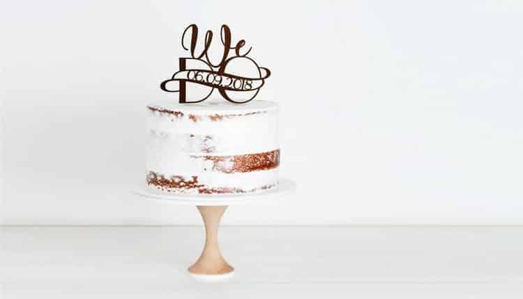30 مدل کیک عروسی یک طبقه شیک و جدید