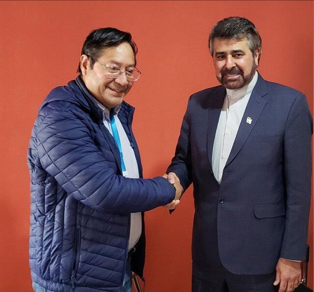 آنالیز توسعه همکاری ها در ملاقات سفیر ایران با رییس جمهور منتخب بولیوی
