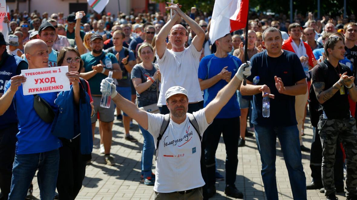 تداوم اعتراض ها در بلاروس و بازداشت معترضان