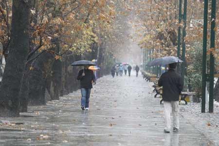 فعالیت سامانه بارشی در اغلب نواحی کشور طی امروز